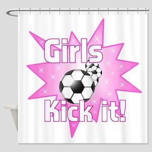 Girls Kick It Shower Curtain