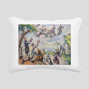 x @oil on canvasA - Rectangular Canvas Pillow