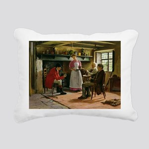 Broadway, 1896 - Rectangular Canvas Pillow