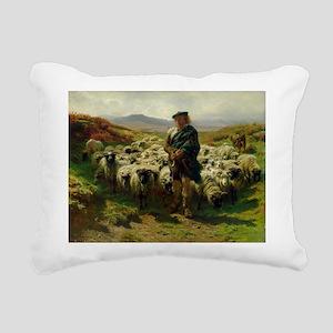 1859 @oil on canvasA - Rectangular Canvas Pillow