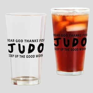 Dear God Thanks For Judo Drinking Glass