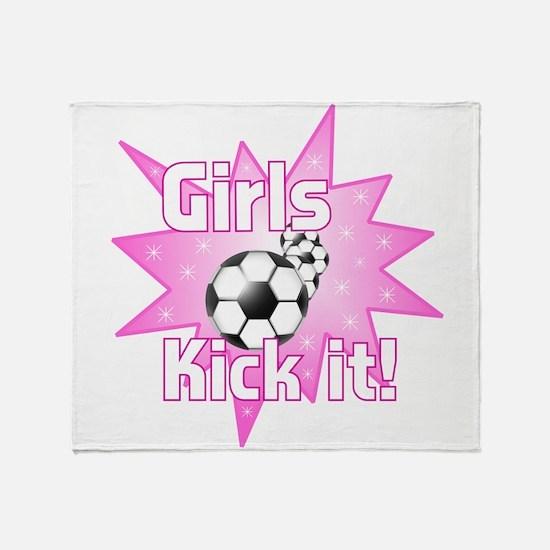 Girls Kick It Throw Blanket