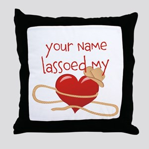 Lasso My Heart Throw Pillow
