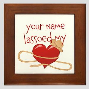 Lasso My Heart Framed Tile