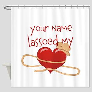 Lasso My Heart Shower Curtain