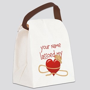 Lasso My Heart Canvas Lunch Bag