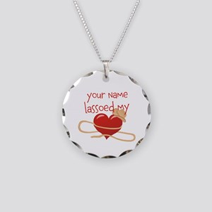 Lasso My Heart Necklace Circle Charm