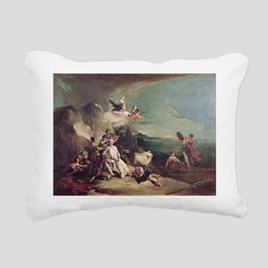 20-21 @oil on canvasA - Rectangular Canvas Pillow