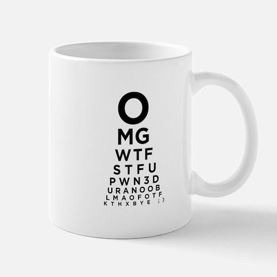 Texting Eye Chart Mug
