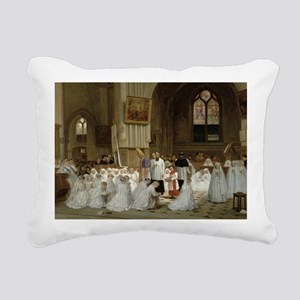 @oil on panelA - Rectangular Canvas Pillow