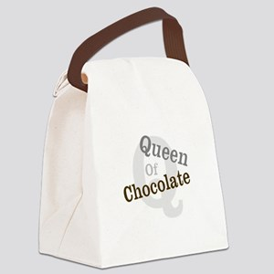 Queen of Chocolate Canvas Lunch Bag