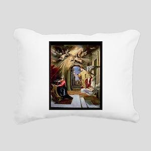 70-73 @oil on panelA - Rectangular Canvas Pillow