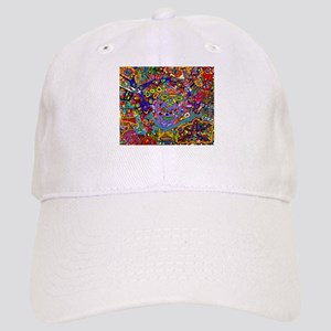 Circus of faces, colors and shapes. Baseball Cap