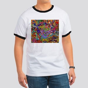 Circus of faces, colors and shapes. T-Shirt