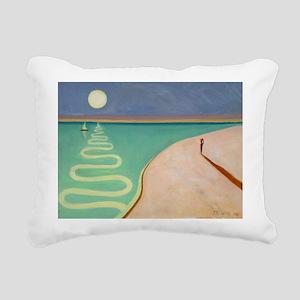 4 @oil on canvasA - Rectangular Canvas Pillow