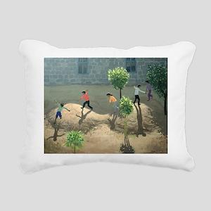 96 @oil on canvasA - Rectangular Canvas Pillow