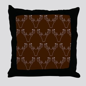 'Stag Pattern' Throw Pillow