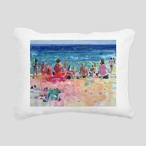 oil on canvasA - Rectangular Canvas Pillow