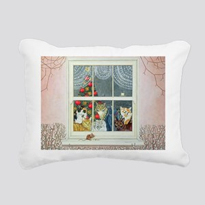 The Christmas-Mouse - Rectangular Canvas Pillow