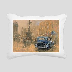 @oil on canvasA - Rectangular Canvas Pillow