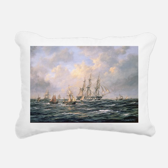 n amid Fishing Boats - Rectangular Canvas Pillow