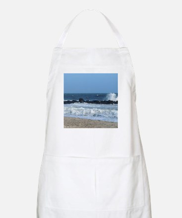 Ocean Beach Rocks Cape May Shower Curtain Apron