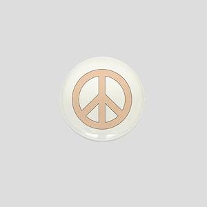 Peach Peace Sign Mini Button