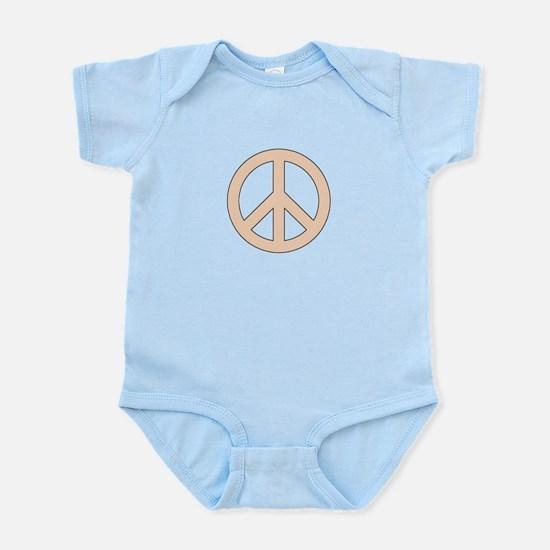 Peach Peace Sign Body Suit