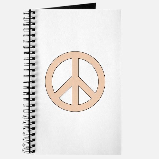 Peach Peace Sign Journal