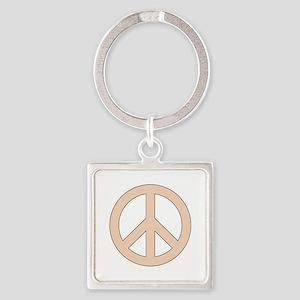 Peach Peace Sign Keychains