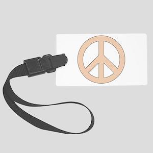 Peach Peace Sign Luggage Tag