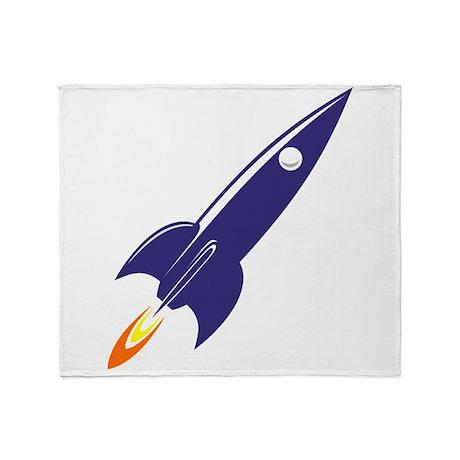 blue rocket Throw Blanket