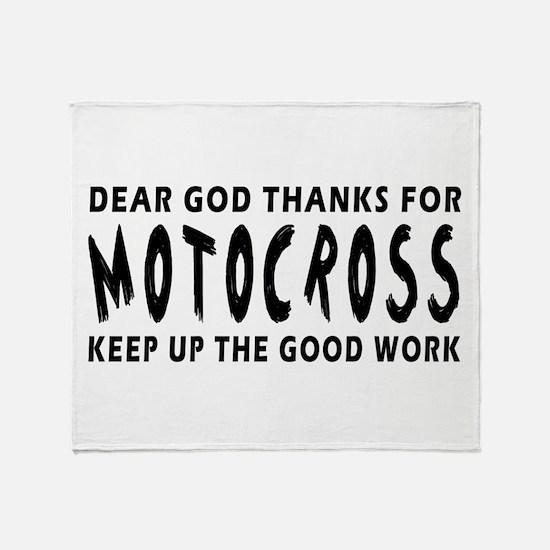 Dear God Thanks For Motocross Throw Blanket