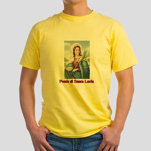 Festa di Santa Lucia Yellow T-Shirt