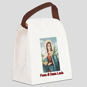 Festa di Santa Lucia Canvas Lunch Bag