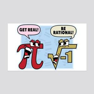 Get Real Be Rational Wall Decal