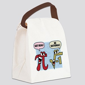 Get Real Be Rational Canvas Lunch Bag