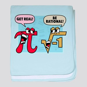 Get Real Be Rational baby blanket