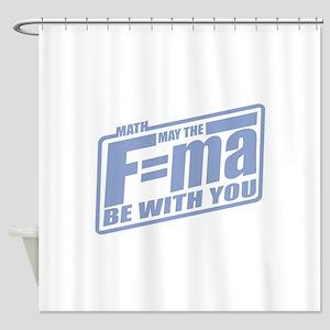 F=ma Shower Curtain