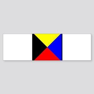 Nautical Flag Code Zulu Bumper Sticker