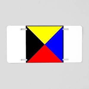 Nautical Flag Code Zulu Aluminum License Plate