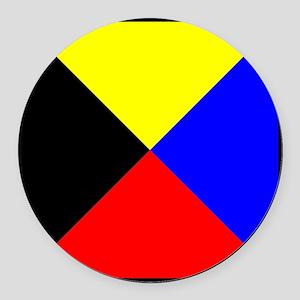 Nautical Flag Code Zulu Round Car Magnet