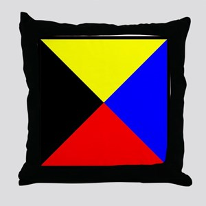 Nautical Flag Code Zulu Throw Pillow