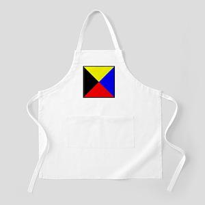 Nautical Flag Code Zulu Apron