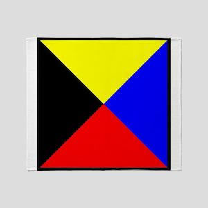 Nautical Flag Code Zulu Throw Blanket