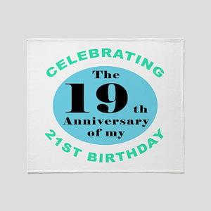 40th Birthday Humor Throw Blanket