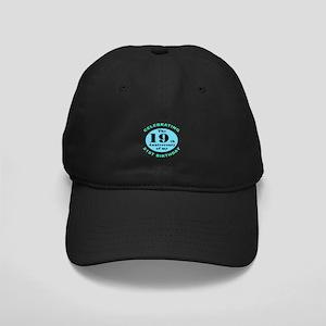 40th Birthday Humor Black Cap