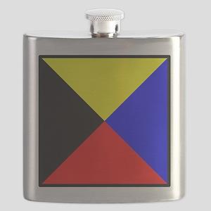 Nautical Flag Code Zulu Flask