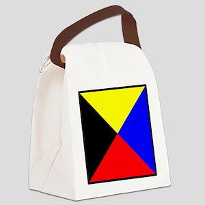 Nautical Flag Code Zulu Canvas Lunch Bag