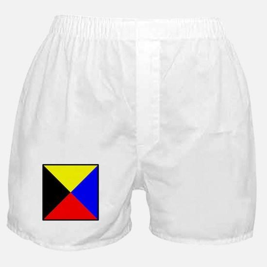 Nautical Flag Code Zulu Boxer Shorts
